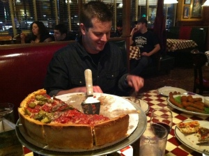 Chicago deep-dish pizza - seriously!